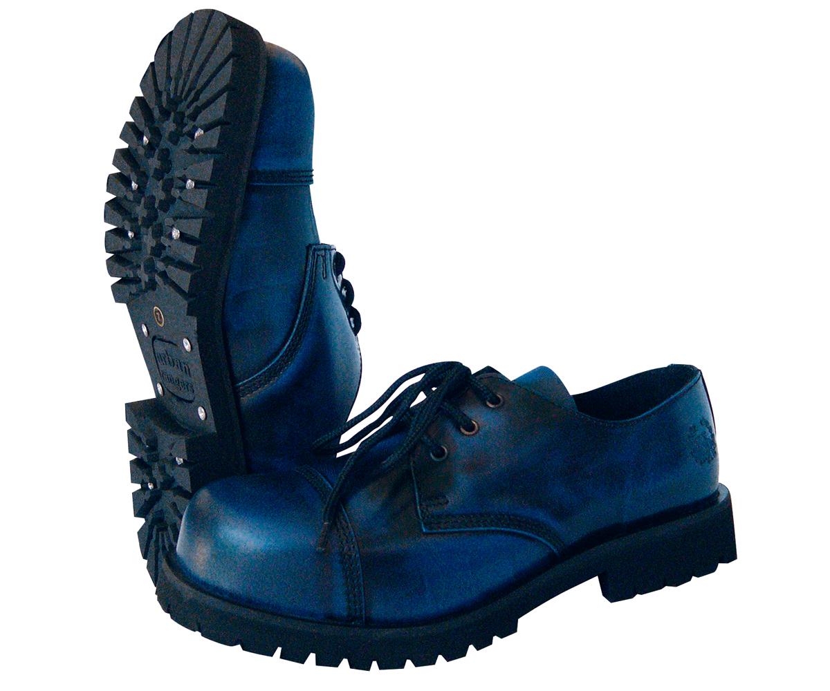 3 Loch Ranger Boots rub off blau