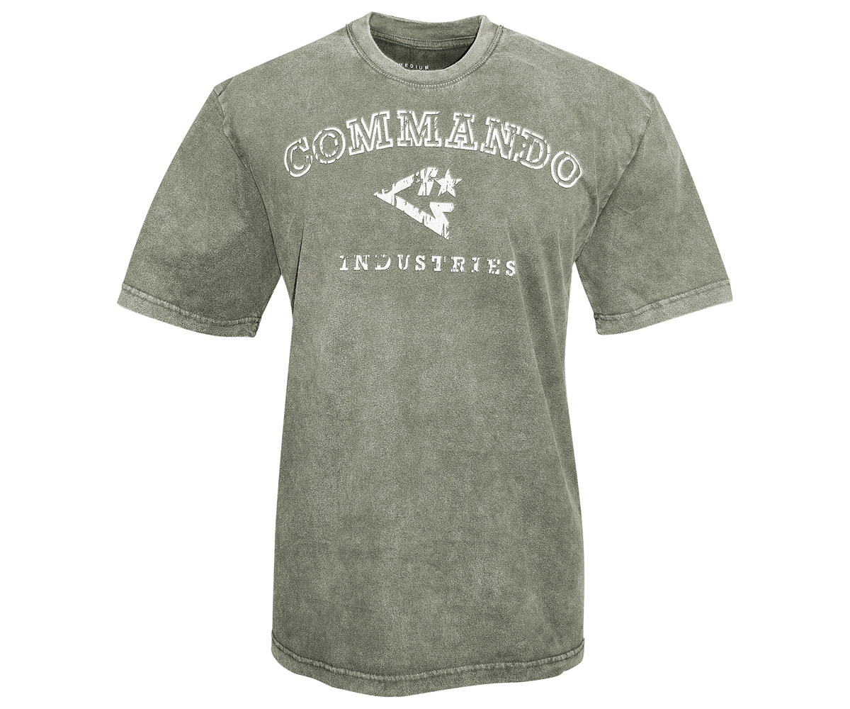 Commando T-Shirt Logo Vintage 1 oliv