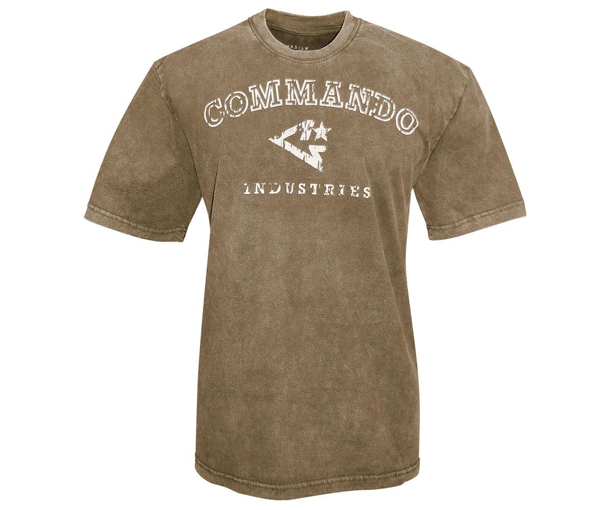 Commando T-Shirt Logo Vintage 1 braun