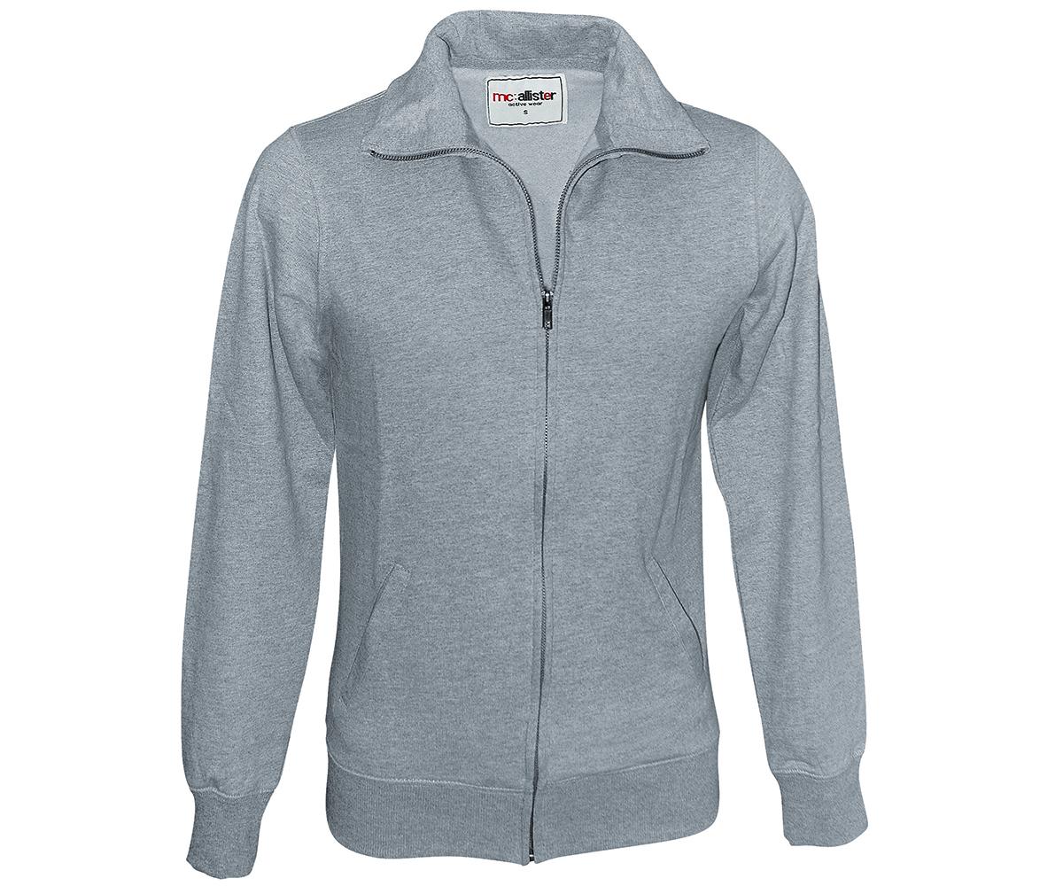 Sweatjacke Active Wear grau meliert