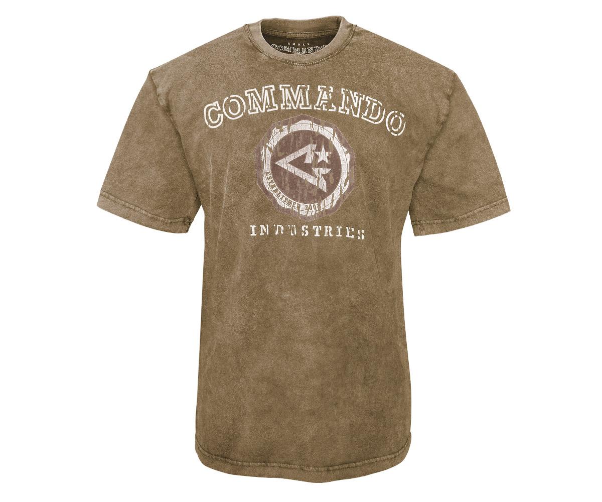 Commando T-Shirt Logo Vintage 2 braun