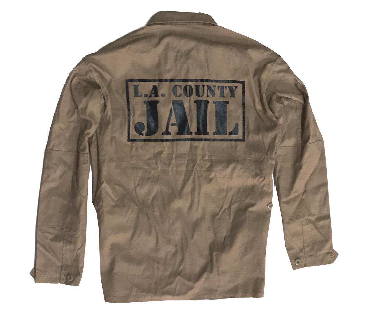 Rip Stop Jacke LA County Jail beige
