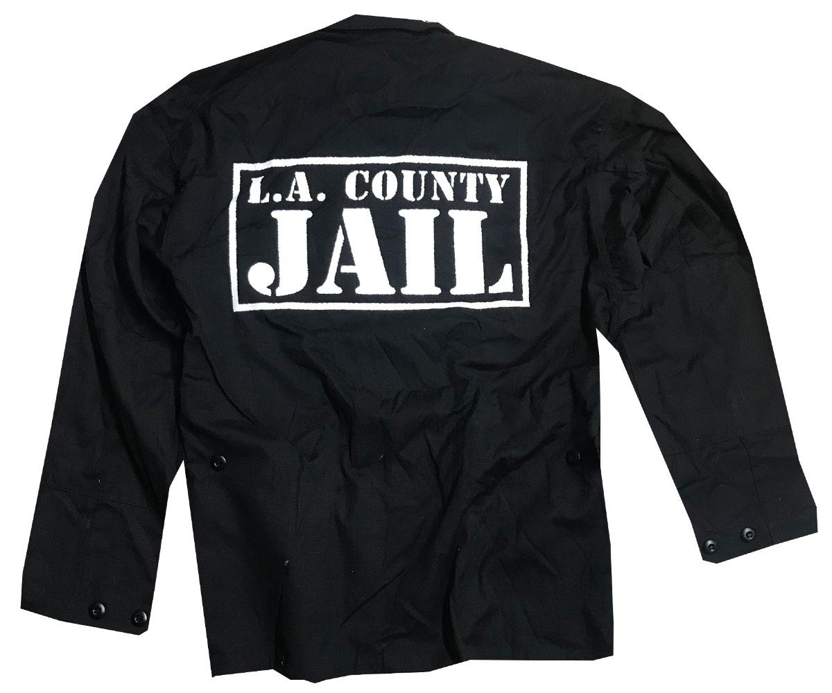 Rip Stop Jacke LA County Jail schwarz