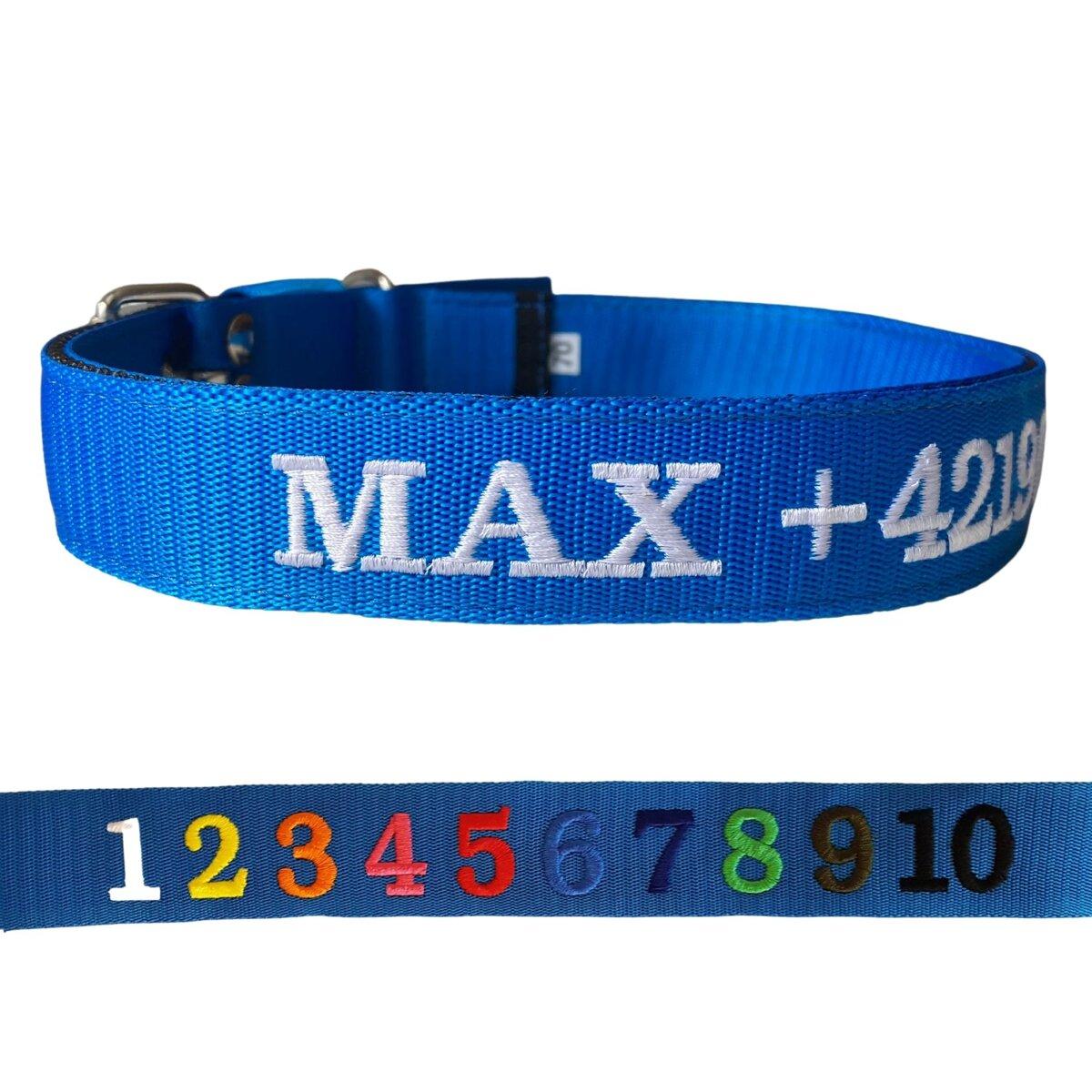 Hundehalsband mit Name und Telefonnummer