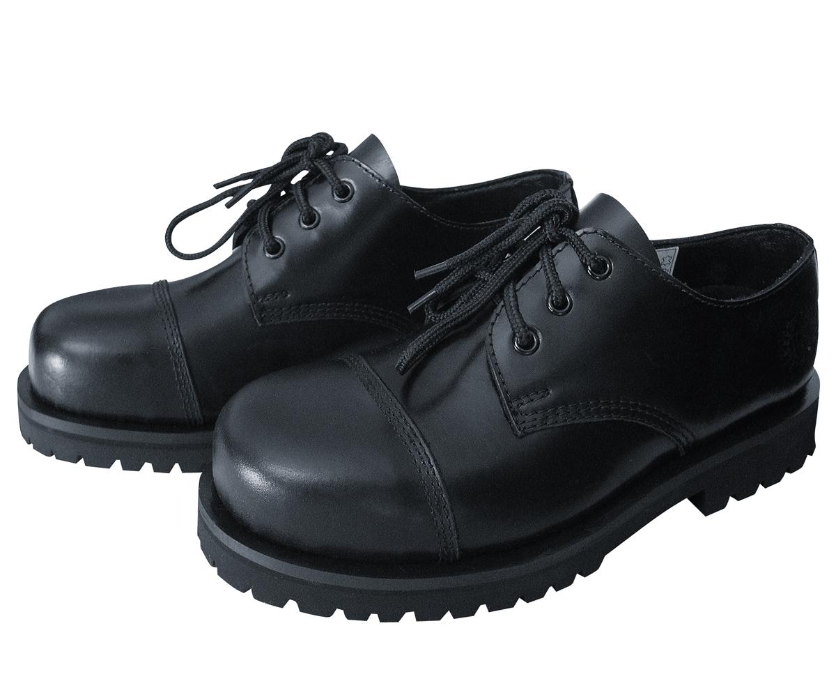 3 Loch Ranger Boots schwarz