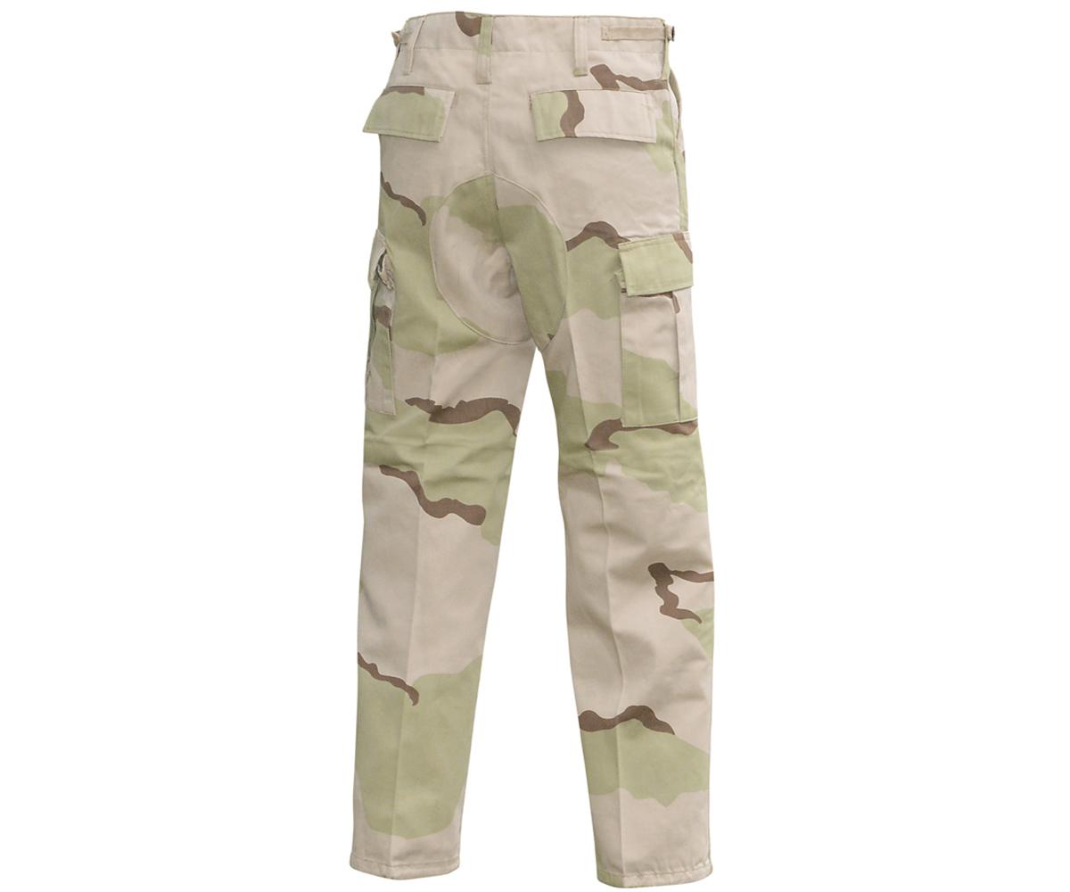 BDU Army Cargo Hose 3 Color Desert Camo