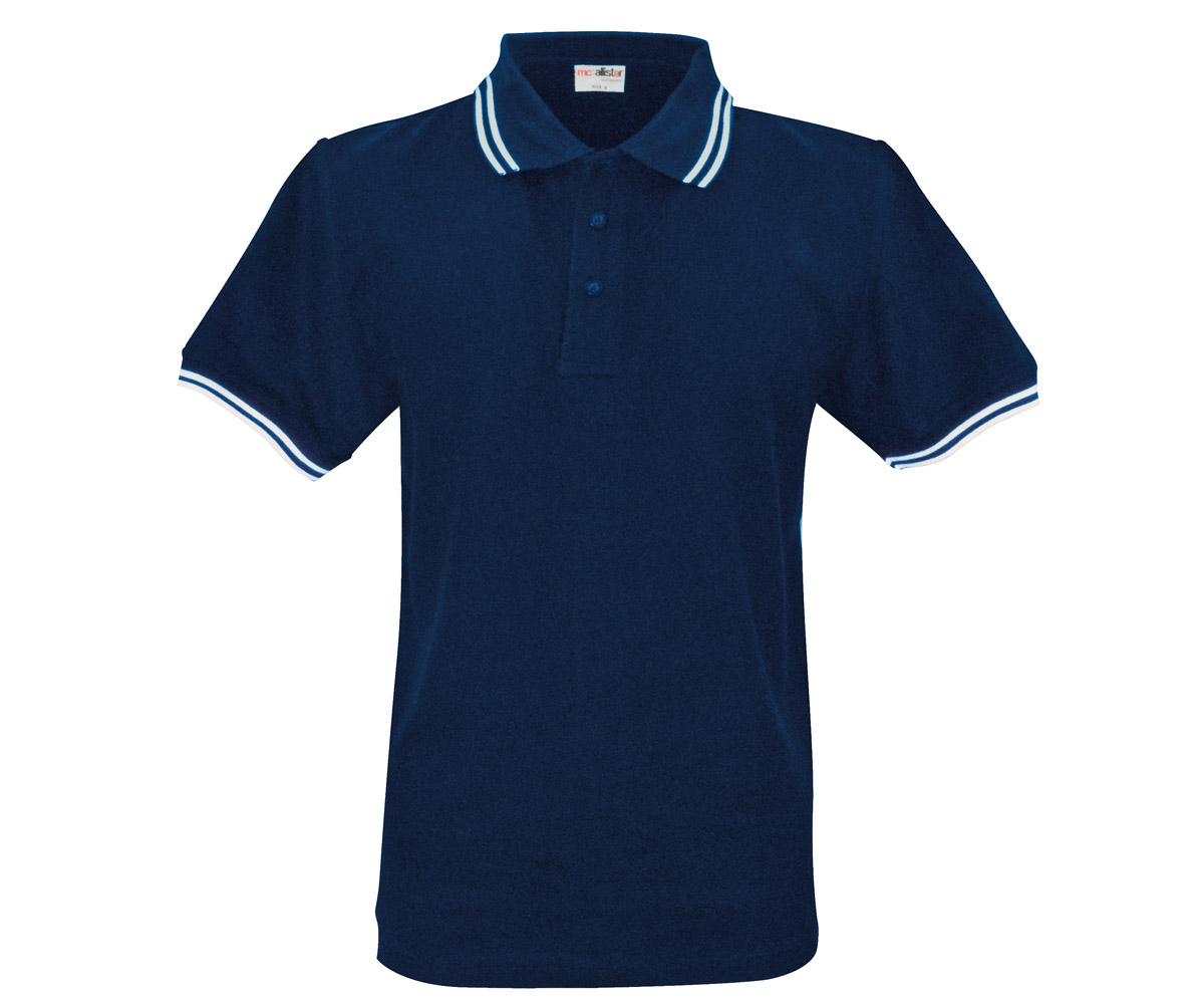Polo Shirt Active Wear navy  Streifen weiß