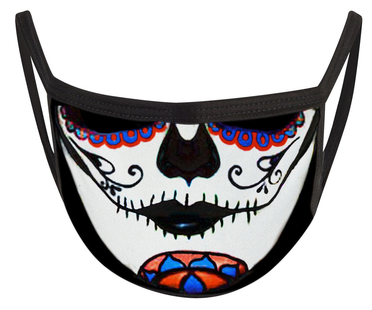La Catrina Mund Nasen Maske