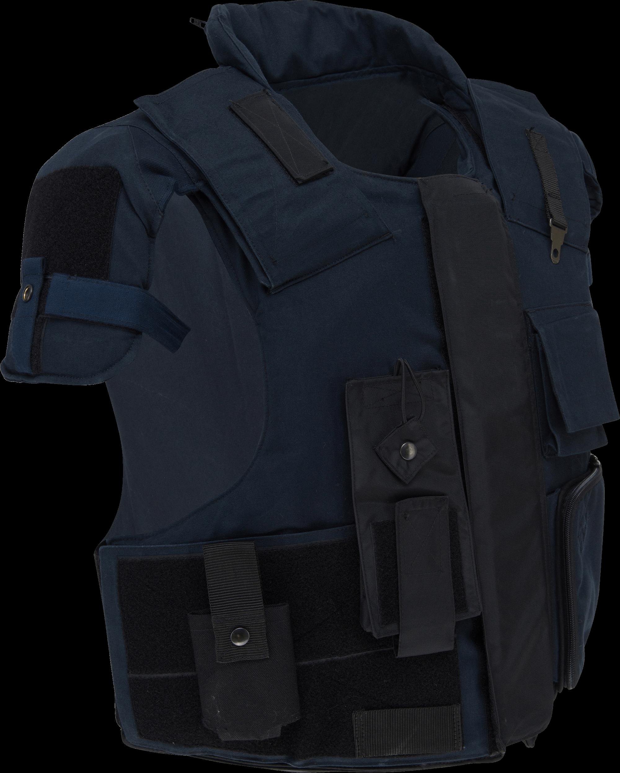 Schlag- und Stichschutz-Weste, original Polizeimodell,  gebraucht, Bestzustand, mit Transport-Tasche