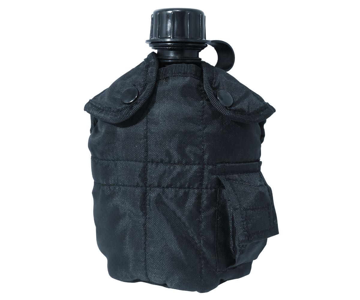 Feldflasche Army Style schwarz
