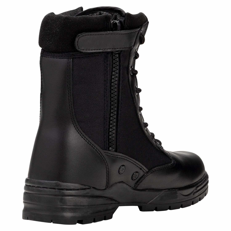 Patriot Style Outdoor Zipper Boots schwarz