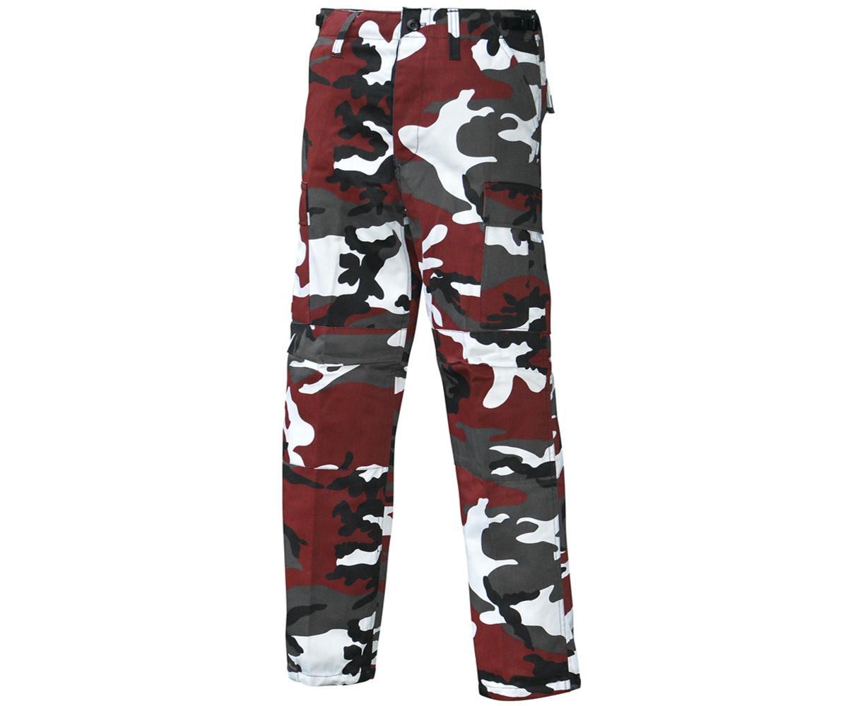 BDU Army Cargo Hose Red Camo
