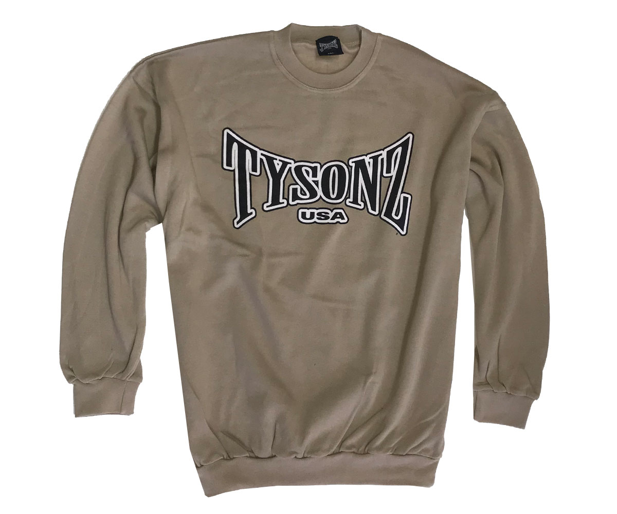 Tysonz Logo Pullover beige