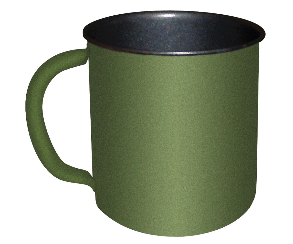 Feldtasse oliv Metall Teflonbeschichtung