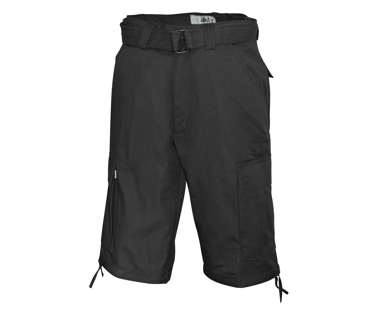 Army Cargo Short mit Gürtel schwarz