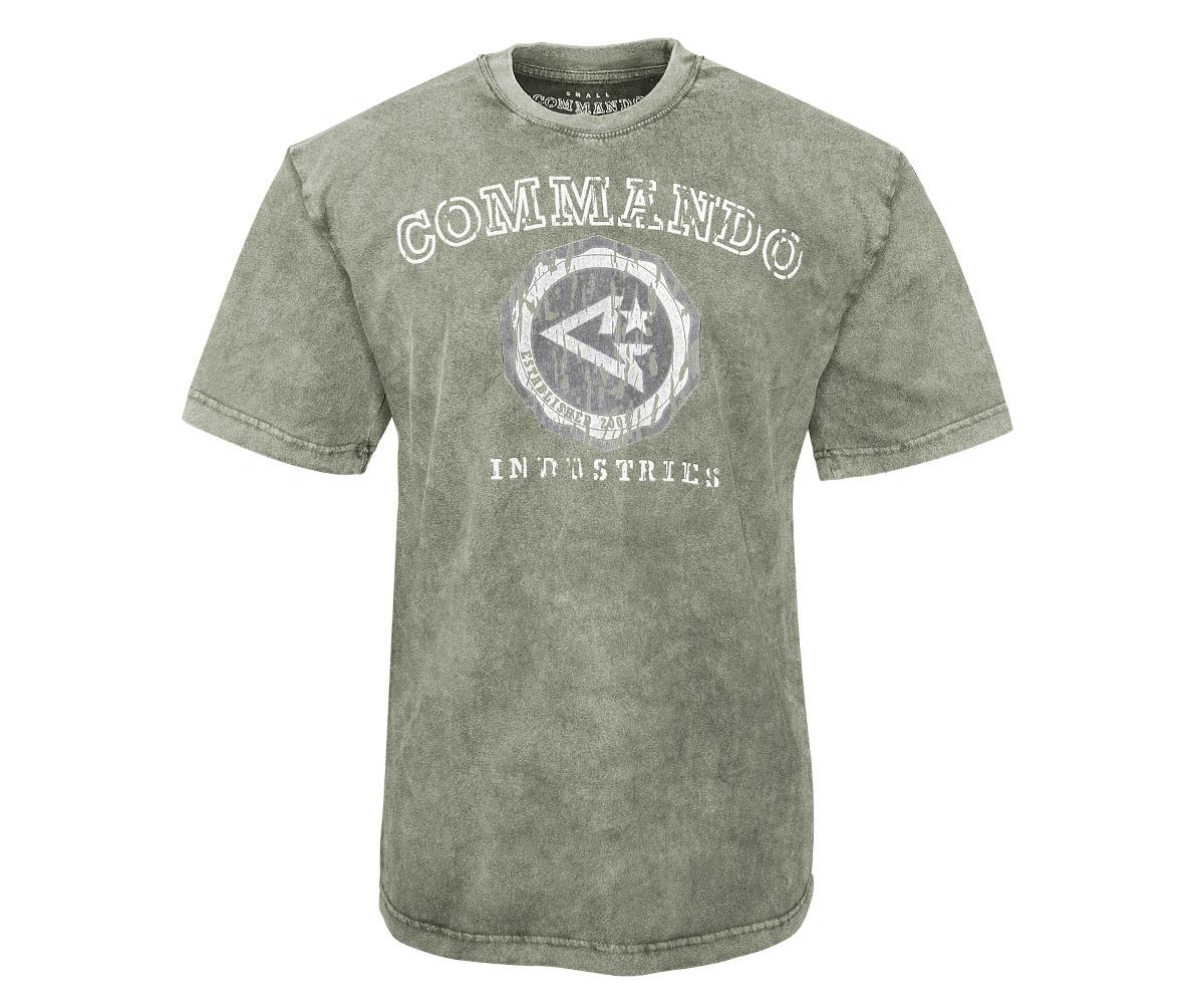 Commando T-Shirt Logo Vintage 2 oliv