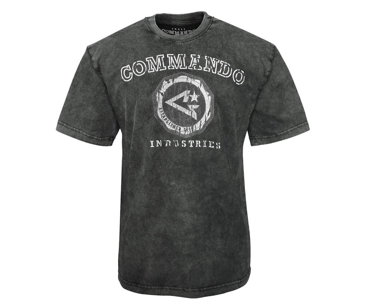 Commando T-Shirt Logo Vintage 2 schwarz