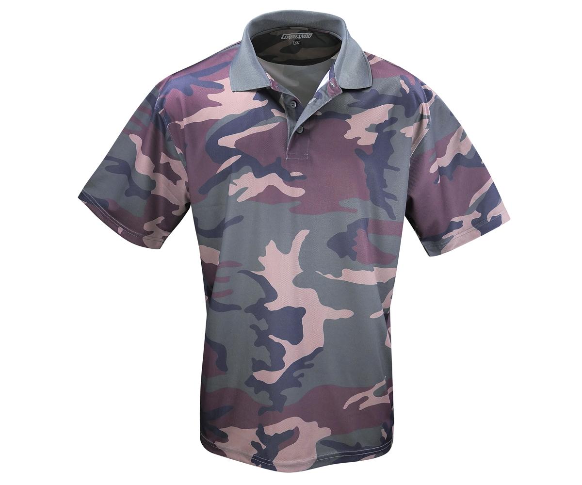 Tactical Polo Shirt QuikDry woodland