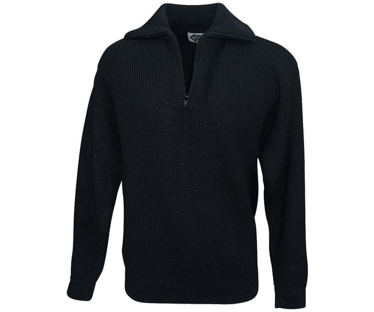 Marine Troyer Baumwoll  Pullover schwarz
