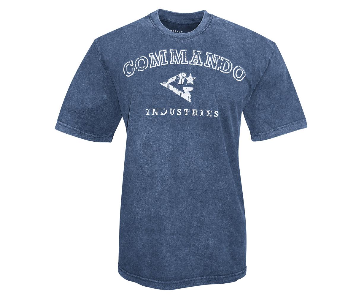Commando T-Shirt Logo Vintage 1 navy